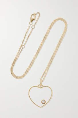 Yvonne Léon 9-karat Gold, Diamond And Glass Necklace - one size