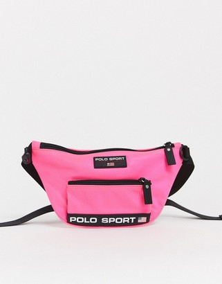Polo Ralph Lauren Sport bum bag in neon pink