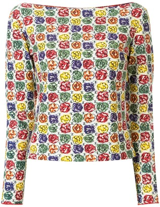 Chanel Pre Owned 2000s floral print T-shirt