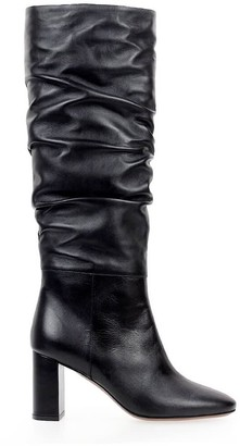 L'Autre Chose Black Leather Heeled Boot