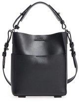 AllSaints Mini Echo Calfskin North/south Tote - Black