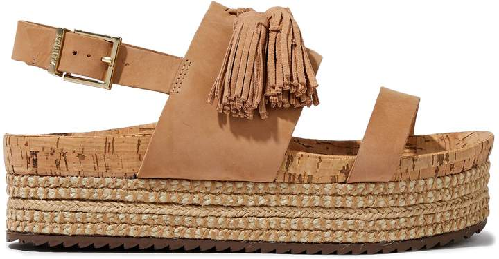 ac115708fb1 Monica Tasseled Nubuck Platform Espadrille Sandals