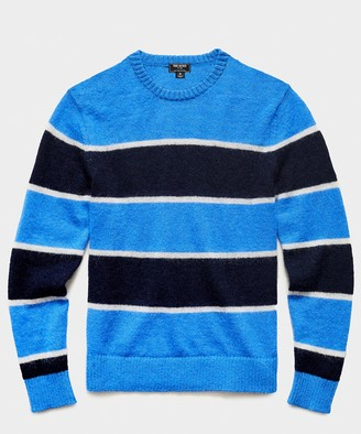 Todd Snyder Striped Crew in Blue