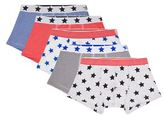 Petit Bateau Stars And Stripes Cotton Boxers (Pack Of 5)