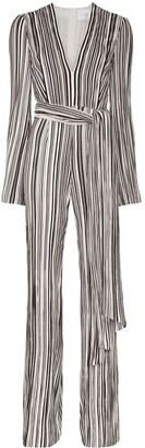 Galvan Taja striped jumpsuit