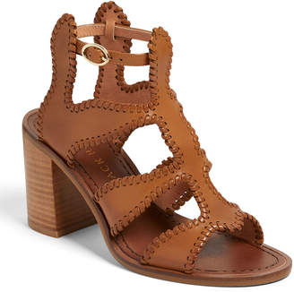 Jack Rogers Jackie Heeled Whipstitch Gladiator Sandals