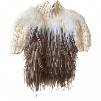 Fendi Beige Wool Knitwear for Women