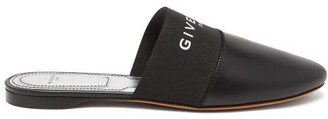 Givenchy Bedford Logo-trim Leather Mules - Womens - Black