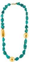 Kenneth Jay Lane Turquoise Beaded Station necklace