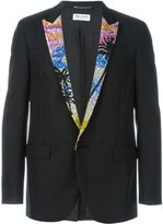 Saint Laurent sequin lapel blazer - men - Silk/Acrylic/Polyester/Wool - 46