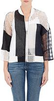 3.1 Phillip Lim WOMEN'S COTTON PATCHWORK BOMBER JACKET SIZE 4