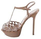 Sergio Rossi Jewel-Embellished Platform Sandals