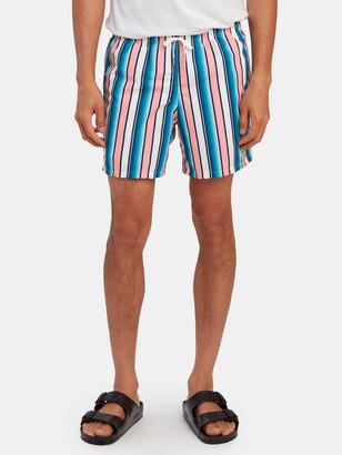 Bather Pink Stripe Swim Trunk
