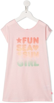 Billieblush glitter slogan T-shirt dress