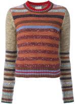 RED Valentino striped short jumper - women - Silk/Polyamide/Viscose/Cashmere - XS