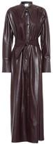 Nanushka Rosana faux leather shirt dress