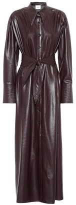 Nanushka Rosana faux leather shirt dress
