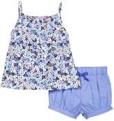 Isaac Mizrahi Ditsy Floral Popover Tank & Short Set (Baby Girls 0-9M)