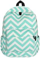 ABC Women Double-Shoulder Sweet Stripe Canvas Backpack Schoolbag