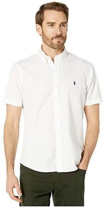 Polo Ralph Lauren Classic Fit Short Sleeve Chino Shirt (White) Men's Clothing