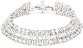 Fallon Crystal-embellished Silver-tone Bracelet