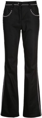 Giambattista Valli Stud Embellished Flared Trousers