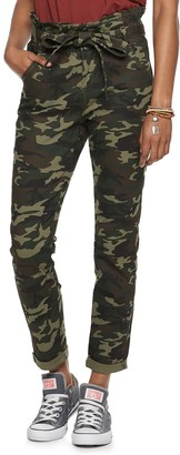 Almost Famous Juniors' High Rise Paperbag Waist Skinny Pant