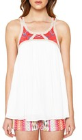 Willow & Clay Women's Embroidered Yoke Tank