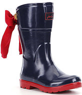 Joules Girls' Bow Welly Waterproof Boot