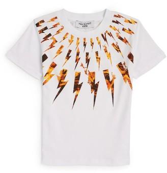 Neil Barrett Bolt On Fire T-Shirt (4-14 Years)