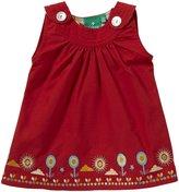 Little Green Radicals Button Flower Dress (Baby) - Red-0-3 Months