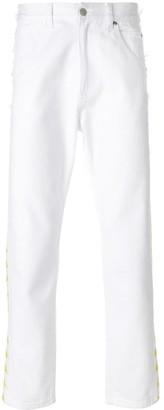 Paura Side-Logo Straight-Leg Jeans
