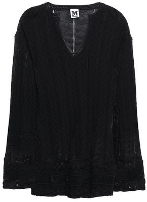 M Missoni Crocheted Wool-blend Top
