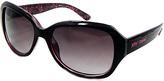 Betsey Johnson Pink & Black Rectangle Sunglasses