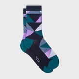 Paul Smith Women's Black Geometric Pattern Socks