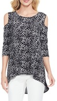 Vince Camuto Women's Animal Whispers Cold Shoulder Top