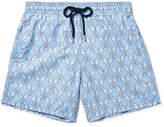 Vilebrequin Moorea Mid-length Printed Swim Shorts - Light blue