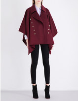 Burberry Henlia wool and cashmere-blend cape