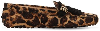 Tod's 10mm Gommino Animalier Leather Loafers