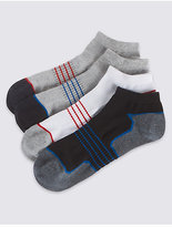 M&S Collection 4 Pairs of Cool & FreshTM Trainer Liner Socks