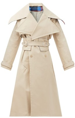 Charles Jeffrey Loverboy Patter Double-breasted Cotton Trench Coat - Beige