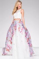Jovani Lace Bodice Two Piece A line Dress JVN48843