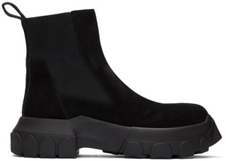 Rick Owens Black Tractor Beetle Boots