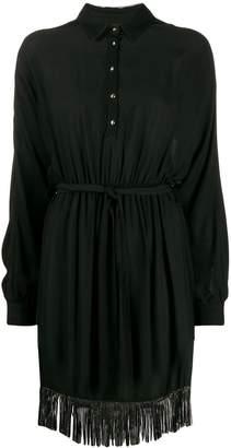 Just Cavalli embellished fringe shirt dress