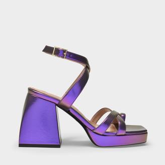 Nodaleto Bulla Siler Sandals In Purple Polyurethane