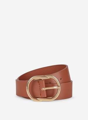 Dorothy Perkins Womens **Dp Curve Tan Leather Belt