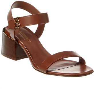 Burberry Monogram Motif Leather Sandal