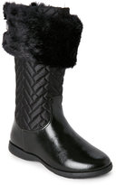 Pampili Kids Girls) Black Trimmed Quilted Tall Boots