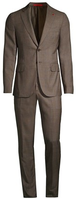 Isaia Plaid Wool Suit