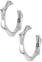 Simon Sebbag Sterling Silver Edged Hoop Earrings